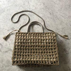 Salvatore Ferragamo Woven Leather Satchel Bag